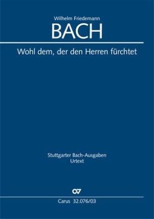Wilhelm Friedemann Bach - Wohl Dem, Der Den Herren Fürchtet - Partition - di-arezzo.fr