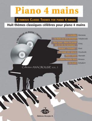 - 8 Thèmes Classiques Volume 1. 4 Mains + 2 CD - Partition - di-arezzo.fr