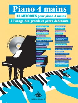 33 Mélodies. 4 Mains Partition Piano - laflutedepan