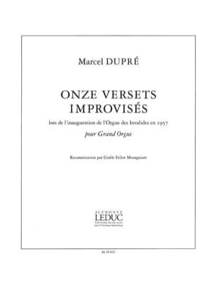 11 Versets Improvisés DUPRÉ Partition Orgue - laflutedepan