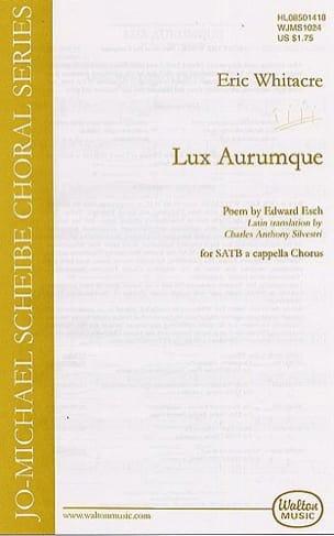 Eric Whitacre - Lux Aurumque - Sheet Music - di-arezzo.co.uk