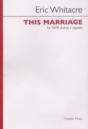 Eric Whitacre - This Marriage - Sheet Music - di-arezzo.co.uk