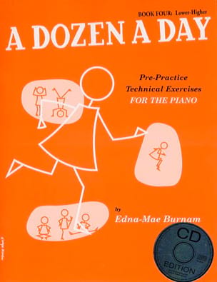 - A Dozen A Day Volume 4 - en Anglais (avec CD) - Partition - di-arezzo.fr