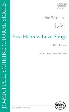 Eric Whitacre - 5 Hebrew Love Songs. SA - Partition - di-arezzo.fr