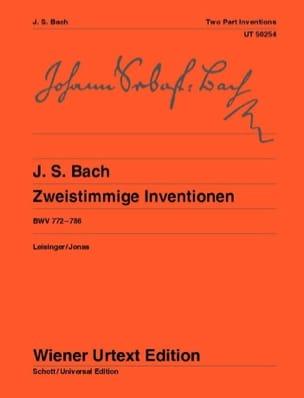 Inventions A 2 Voix - BACH - Partition - Piano - laflutedepan.com