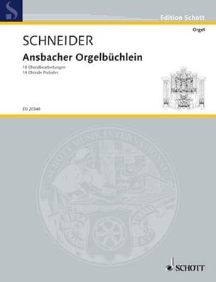 Ansbacher Orgelbüchlein - Norbert J. Schneider - laflutedepan.com