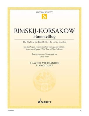 Nicolai Rimsky-Korsakov - The Flight Of The Bumblebee. 4 Hands - Sheet Music - di-arezzo.co.uk