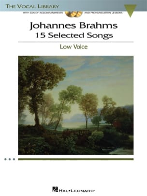 BRAHMS - 15 Selected Songs. Deep voice - Sheet Music - di-arezzo.com