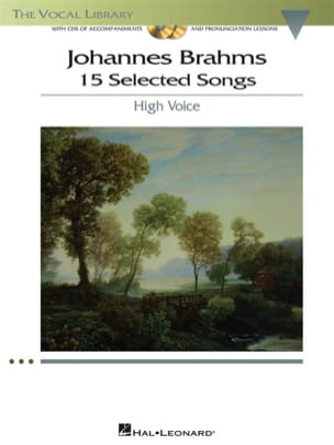 BRAHMS - 15 Selected Songs. Voix Haute - Partition - di-arezzo.fr