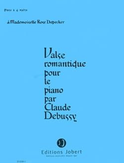 DEBUSSY - Valse Romantique. 4 Mains - Partition - di-arezzo.fr
