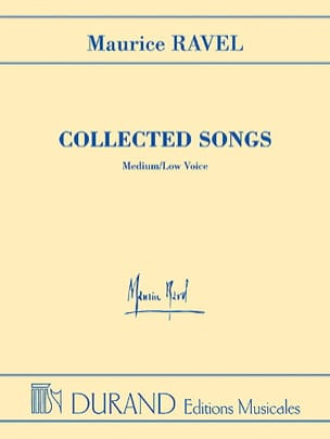 Maurice Ravel - Collected Songs. Medium or serious voice. EXHAUSTED - Sheet Music - di-arezzo.co.uk