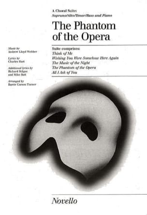 Webber Andrew Lloyd - The Phantom Of The Opera : Choral Suite - Partition - di-arezzo.fr