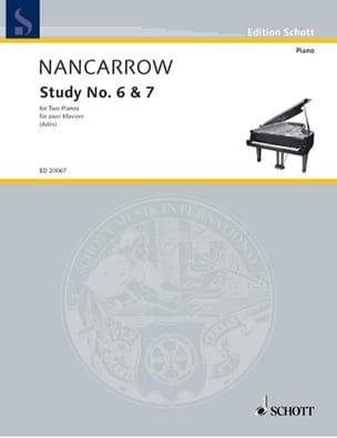 Study N° 6 et 7 - Colon Nancarrow - Partition - laflutedepan.com