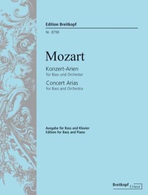 MOZART - Konzert-Arien Für Bass - Sheet Music - di-arezzo.com