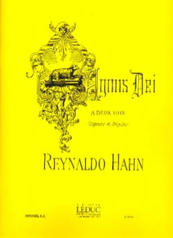 Agnus Dei Reynaldo Hahn Partition Duos - laflutedepan