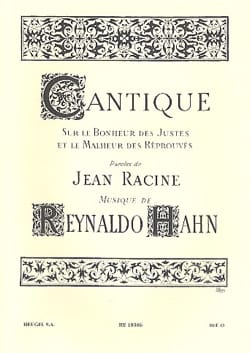 Reynaldo Hahn - Cantique - Partition - di-arezzo.fr