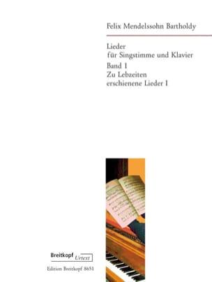 Lieder Volume 1 - Félix MENDELSSOHN - Partition - laflutedepan.com