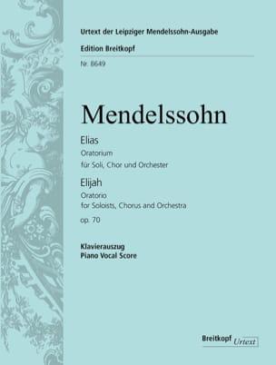 Elias Opus 70 - Félix MENDELSSOHN - Partition - laflutedepan.com