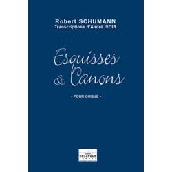Esquisses et Canons SCHUMANN Partition Orgue - laflutedepan