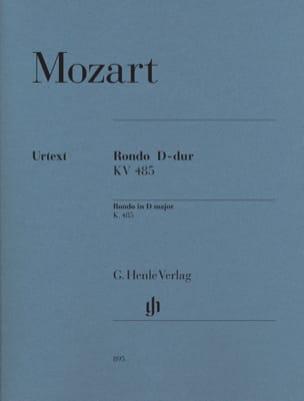 Rondo en Re majeur K. 485 MOZART Partition Piano - laflutedepan