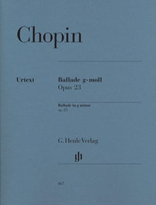 CHOPIN - Ballad In G minor Opus 23 - Sheet Music - di-arezzo.com