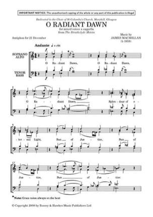 James Macmillan - O Radiant Dawn - Sheet Music - di-arezzo.co.uk