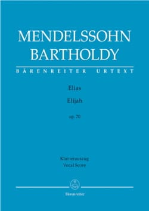 MENDELSSOHN - Elias Opus 70 - Sheet Music - di-arezzo.com