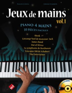Jeux de Mains. 4 Mains Partition Piano - laflutedepan