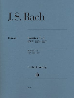 Partitas 1-3 BWV 825-827 BACH Partition Piano - laflutedepan