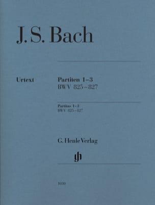 Jean-Sébastien Bach - Partitas 1-3 BWV 825-827 - Partition - di-arezzo.fr