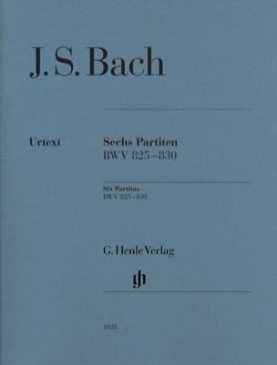 6 Partitas BWV 825-830 BACH Partition Piano - laflutedepan