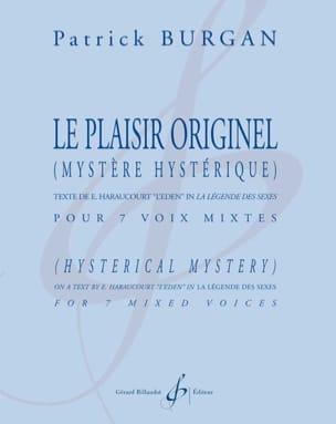 Le Plaisir Originel - Patrick Burgan - Partition - laflutedepan.com