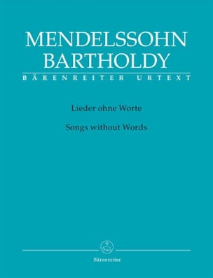 MENDELSSOHN - Lieder Ohne Worte. Urtext - Sheet Music - di-arezzo.co.uk