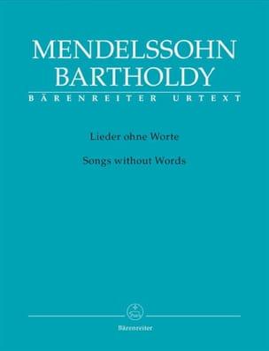 MENDELSSOHN - Lieder Ohne Worte. Urtext - Partition - di-arezzo.fr