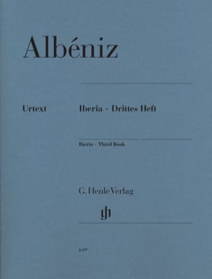 Iberia - Troisième cahier ALBENIZ Partition Piano - laflutedepan