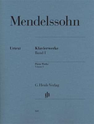 MENDELSSOHN - Works for piano. Volume 1 - Sheet Music - di-arezzo.co.uk