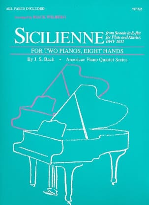 BACH - Sicilian. 2 Pianos 8 Hands - Sheet Music - di-arezzo.co.uk