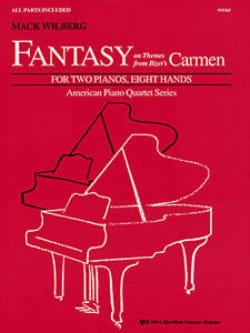 Fantasy On Thems From Carmen. 2 Pianos 8 Mains BIZET laflutedepan