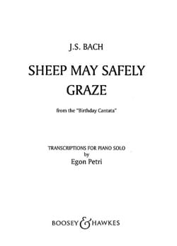BACH - Sheep May Safely Graze BWV 208 - Sheet Music - di-arezzo.co.uk