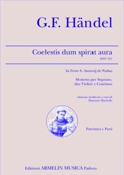 HAENDEL - Coelestis Dum Spirat Aura HWV 231 - Partition - di-arezzo.fr