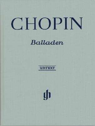 Ballades. Relié - Frédéric Chopin - Partition - laflutedepan.com
