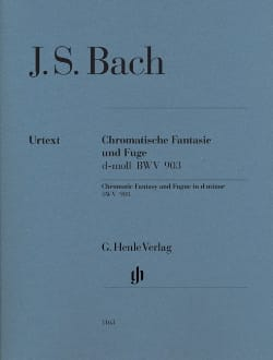 BACH - Chromatic Fantasy and Fugue D minor BWV 903 - Sheet Music - di-arezzo.co.uk