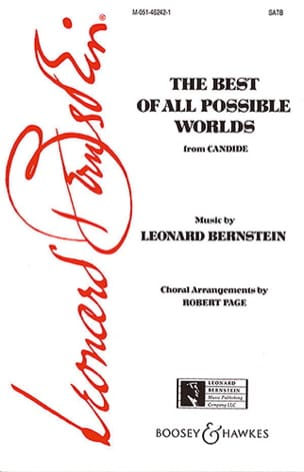 Leonard Bernstein - The Best Of All Possible Worlds - Partition - di-arezzo.fr