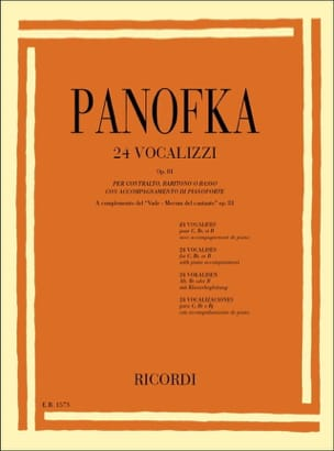 Heinrich Panofka - 24 Vocalises Op. 81 - Partition - di-arezzo.fr