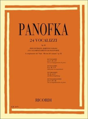 Heinrich Panofka - 24 Vocalises Op. 81 - Sheet Music - di-arezzo.com