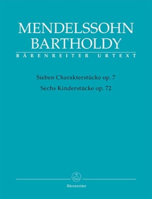 MENDELSSOHN - Character Pieces Op. 7 and Children's Pieces Op. 72 - Sheet Music - di-arezzo.com