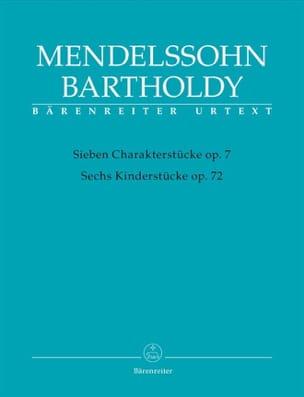 MENDELSSOHN - Personaggi op. 7 e pezzi per bambini op. 72 - Partitura - di-arezzo.it