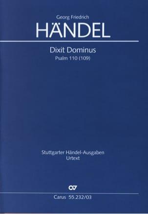 Dixit Dominus Hwv 232 HAENDEL Partition Chœur - laflutedepan
