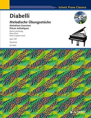 Melodische Ubungsstücke Opus 149. 4 Mains Anton Diabelli laflutedepan
