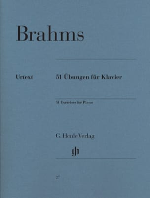 BRAHMS - 51 Exercices Pour Piano - Partition - di-arezzo.fr